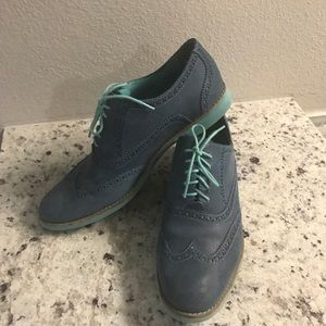 Women's Cole Haan two tone blue oxfords
